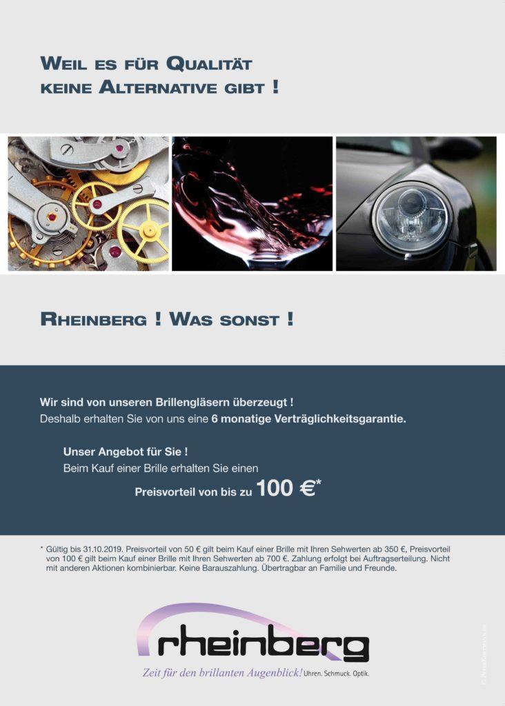 Qualität bei Rheinberg - mit Preisvorteil für Sie!