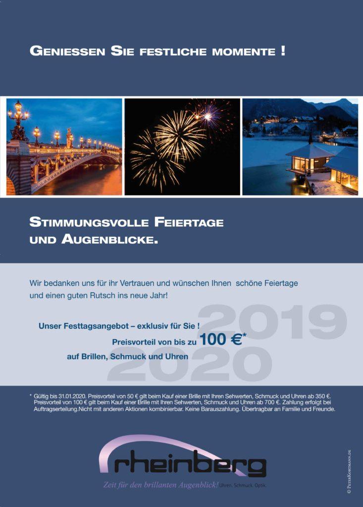 Weihnachten bei Rheinberg - mit Preisvorteil für Sie!