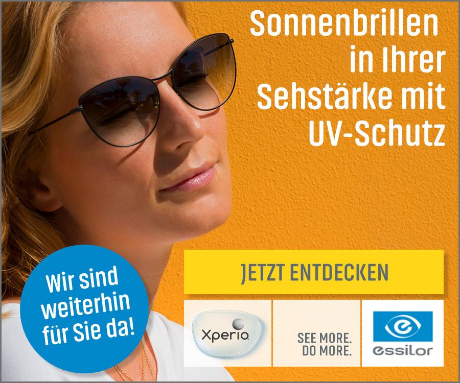 Sonnebrillen in Ihrer Sehstärke mit UV-Schutz