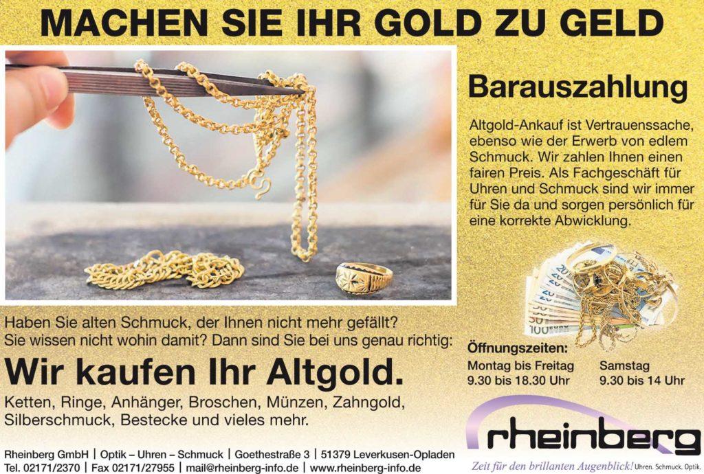 Imageanzeige Gold zu Geld